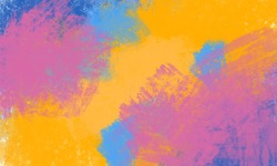 Abstract colorfull paint texture background made with digital brush paint