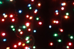 Abstract colors christmas light background