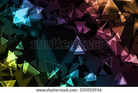 Abstract colourful triangle. Add your text.