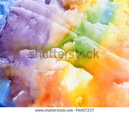 Abstract composition in watercolor. The background.