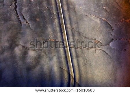 Abstract composition with a grungy texture.