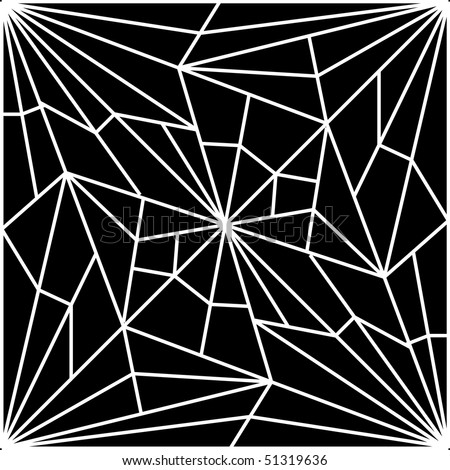 ... computer generated background illustration of a cracked spider web