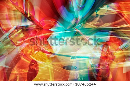 Abstract computer generated futuristic background