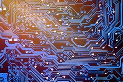 Abstract computer or electronic circuit board
