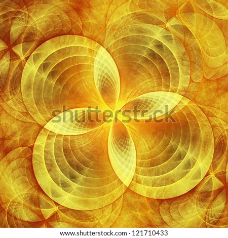 Abstract concentric circle decor. Fractal illustration.
