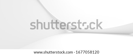 Abstract Concept Background. Minimalistic Graphic Design. Purity 3d Illustration