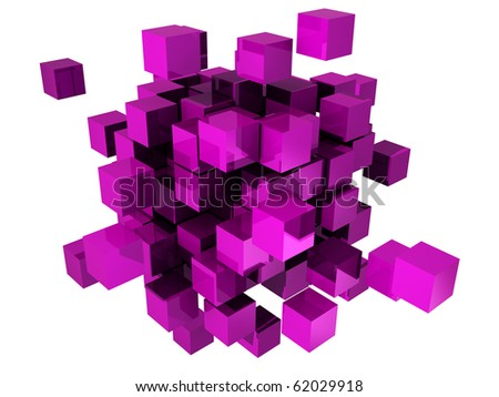 Abstract concept cubes