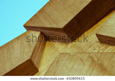 abstract concrete architecture #650809615