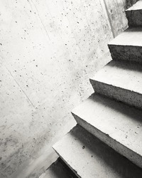 Abstract concrete building stairway composition