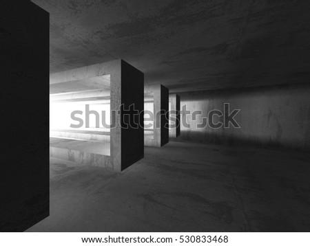 Abstract concrete geometric architecture background. 3d render illustration #530833468