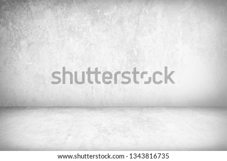 Abstract Concrete Room Background Using for Product Presentation Backdrop. #1343816735