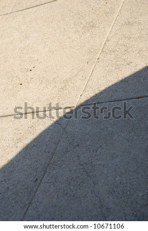abstract concrete with line patterns and light and shadow