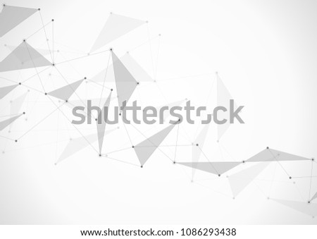 Abstract connection background with lines and dots. Geometric network connection. #1086293438