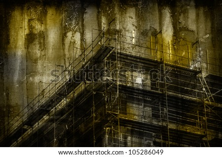 Abstract Construction Background with Building