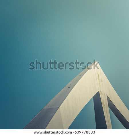 Abstract Contemporary Architecture Detail On A Bridge #639778333