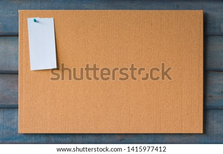 abstract cork board for paper note pin blank background. Blank notes education concept for add text message or design website. sticker note