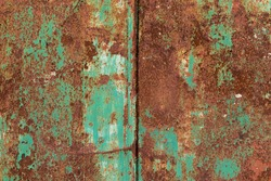 abstract corroded old green paint on metal walls The wall is cracked with old green paint, Rusty on old metal background ,Metal rust Texture, old metal iron rust texture