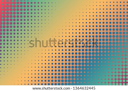 Abstract creative concept comics pop art style blank layout template with clouds beams and isolated dots pattern on background. For sale banner, empty bubble, illustration comic book design #1364632445
