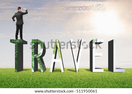 free photos travel word travel destination letters with landscape