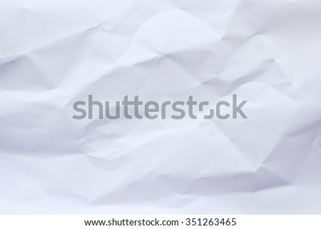 abstract crumpled white paper background texture:detail of wrinkle parchment texture pattern concept:creased brighten paper backdrop concept.rumpled and folded wallpaper banner template.