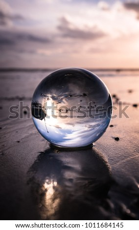 abstract crystal ball #1011684145
