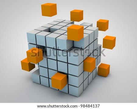 abstract Cubes as symbol for network