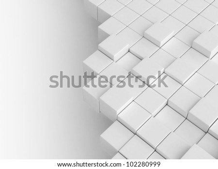 Abstract cubes building concept