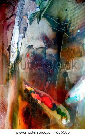 abstract curtain - stock photo