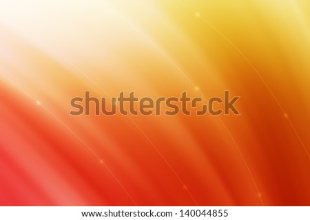 Abstract curve background - yellow and red color