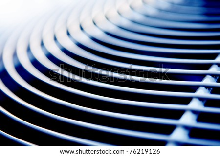 abstract curved grate