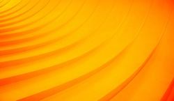 Abstract curved lines. Orange geometric background