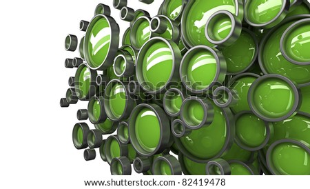 Abstract 3D background for company presentation green