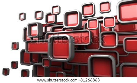Abstract 3D background for company presentation red