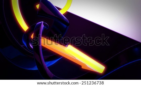 Stock Photo Abstract 3D Background Rotating Yellow And Blue Arrows
