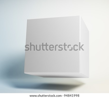 Abstract 3d cube floating in the air
