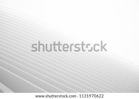 Abstract 3d Curved Background. Circular Shapes Modern minimalistic Design. White smooth geometric. 3d Rendering #1131970622