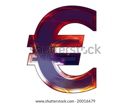 abstract 3d euro sign