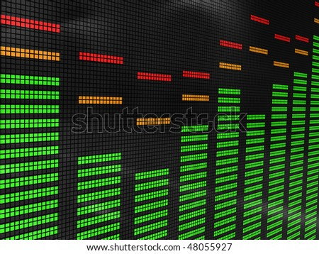 abstract 3d illustration of audio spectrum background
