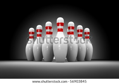 abstract 3d illustration of bowls over dark background