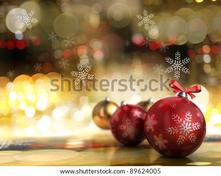 abstract 3d illustration of christmas background with lights