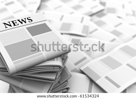 abstract 3d illustration of gray newspapers background