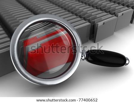 abstract 3d illustration of information searching concept