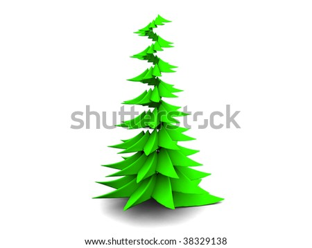 abstract 3d illustration of xmas tree symbol