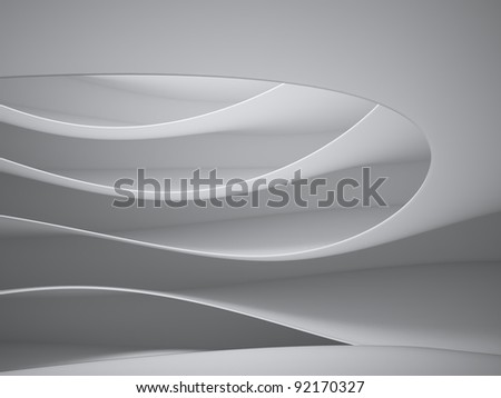Abstract 3d interior architecture