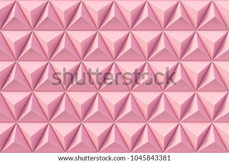 Abstract 3D minimalistic geometrical background of triangles