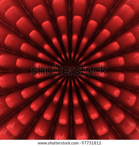 Abstract 3d red geometrical background