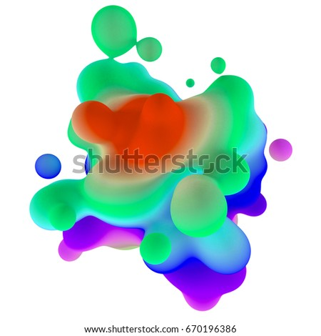 Abstract 3d rendering colored background with drops. #670196386