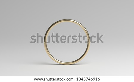 Abstract 3d rendering of a ring. Modern background with circle geometric shape. Minimalistic design for poster, cover, branding, banner, placard.