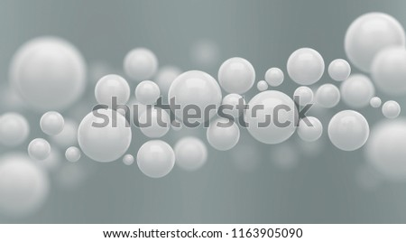 Abstract 3d rendering of polygon white sphere or ball Futuristic background.