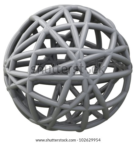 Abstract 3d scribble ball